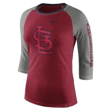 LADIES CARDINALS NIKE TRI-BLEND 3/4 RAGLAN Thumbnail