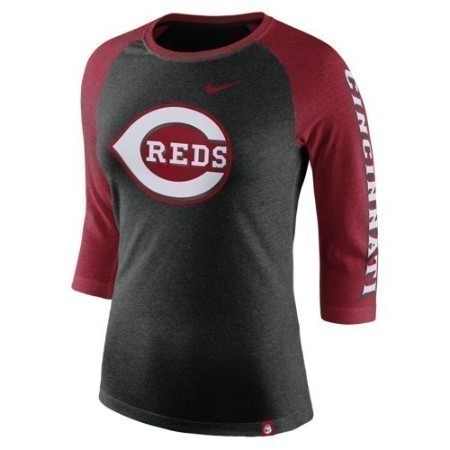 LADIES REDS NIKE TRI-BLEND 3/4 RAGLAN Thumbnail