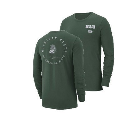 MENS MICHIGAN STATE NIKE LS ELEVATED ESSENTIA Thumbnail