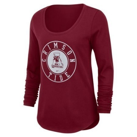 LADIES ALABAMA NIKE ELEVATED LS SCOOP Thumbnail
