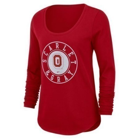 LADIES OHIO STATE NIKE ELEVATED LSSCOOP Thumbnail