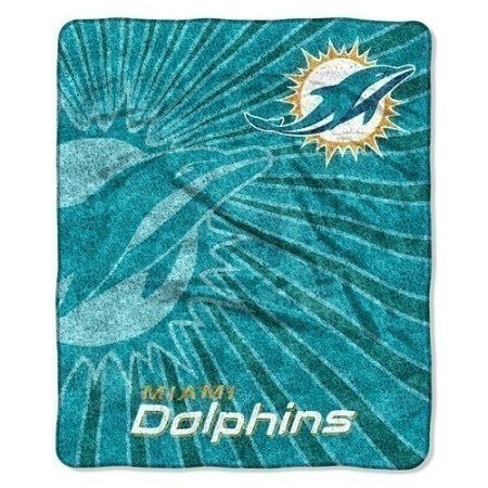 DOLPHINS SHERPA THROW 50X60 Thumbnail