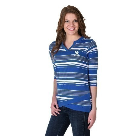 LADIES KENTUCKY ANGLED HEM TOP Thumbnail