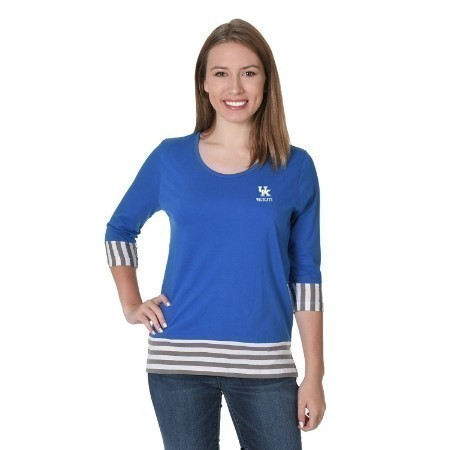 LADIES KENTUCKY STRIPED PANEL TEE Thumbnail