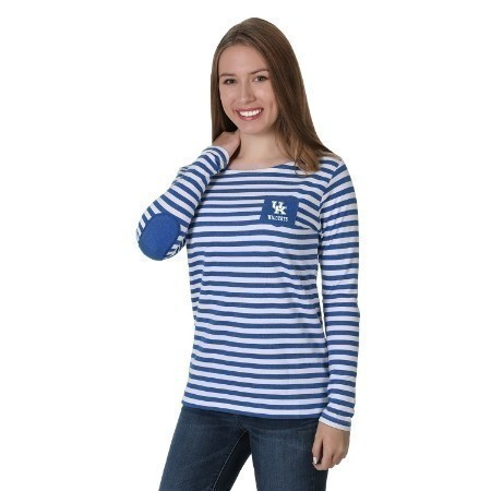 LADIES KENTUCKY ELBOW PATCH FLEECE TOP Thumbnail