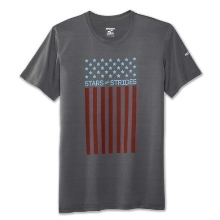 MENS BROOKS STARS & STRIPES PACESETTER TEE Thumbnail