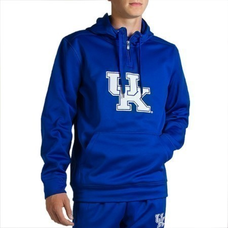 MENS KENTUCKY HOODED 1/4 ZIP UP PULLOVER Thumbnail