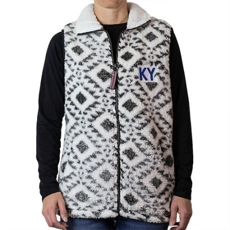 LADIES KENTUCKY TRIBAL SHERPA VEST OUTER18 Thumbnail