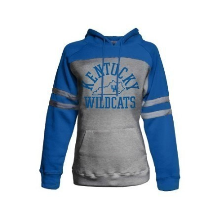 LADIES KENTUCKY  STRIPE HOODED SWEATSHIRT Thumbnail