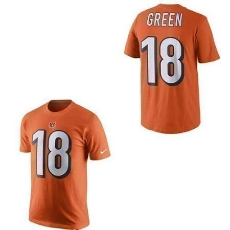 MENS BENGALS NIKE GREEN NAME & NUMBER TEE Thumbnail