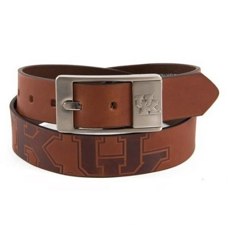 KENTUCKY MEN'S LEATHER BRANDISHED BELT Thumbnail