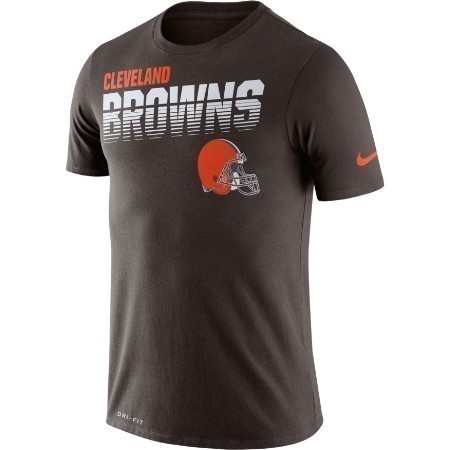 YOUTH BROWNS NIKE SIDELINE TEE Thumbnail