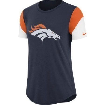 LADIES BRONCOS NIKE TRI TEAM FAN TEE Thumbnail