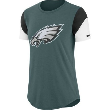 LADIES EAGLES NIKE TRI TEAM FAN TEE Thumbnail
