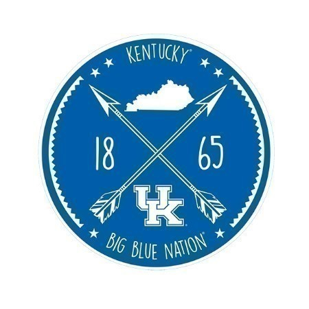 KENTUCKY CIRCLE ARROW DECAL 3.5