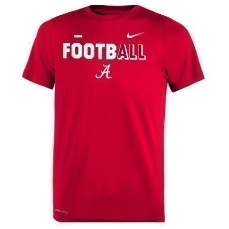 YOUTH  ALABAMA NIKE LEGEND FBALL TEE Thumbnail