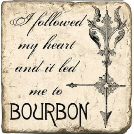BOURBON FOLLOWED HEART MARBLE COASTER Thumbnail