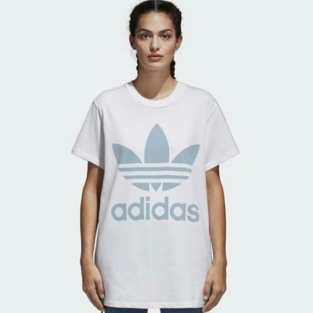LADIES ADIDAS OVERSIZED TREFOIL TEE  Thumbnail