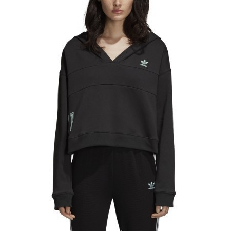 LADIES ADIDAS CROP HOODED SWEATSHIRT Thumbnail