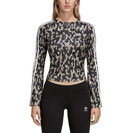 LADIES ADIDAS LEOFLANGE LONG SLEEVE TEE Thumbnail