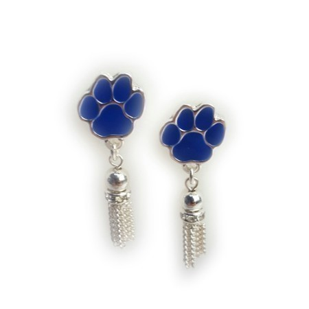 KENTUCKY PAW TASSEL EARRINGS Thumbnail