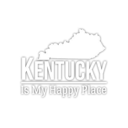 KENTUCKY IS MY HAPPY PLACE DECAL 3.5