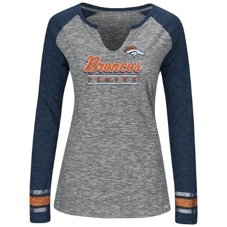 LADIES BRONCOS MAJESTIC LEAD PLAY TEE Thumbnail