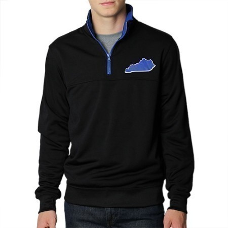 MENS KENTUCKY 1/4 ZIP STATE PULLOVER KY50 Thumbnail