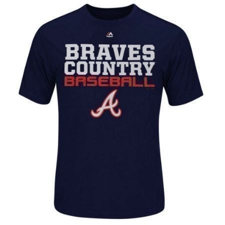 MAJESTIC MENS BRAVES FEEL THE PRESSURE TEE Thumbnail