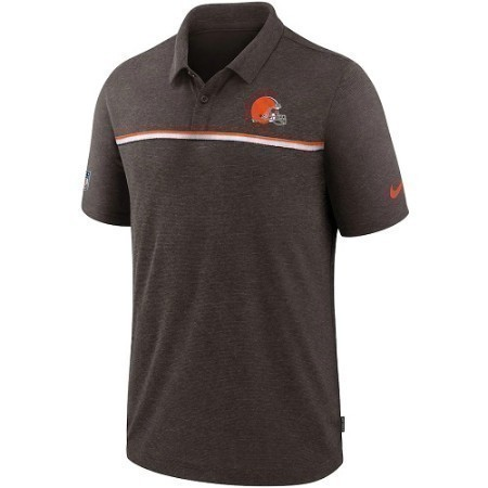 MENS BROWNS NIKE PERFORMANCE POLO Thumbnail