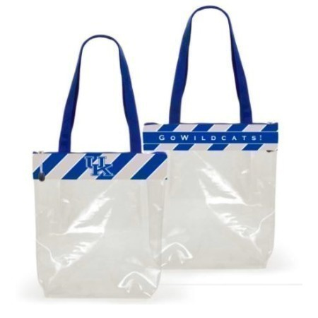 KENTUCKY ZIPPERED CLEAR TOTE Thumbnail