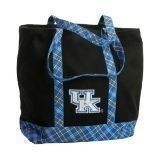 KENTUCKY PLAID LARGE CANVAS TOTE Thumbnail