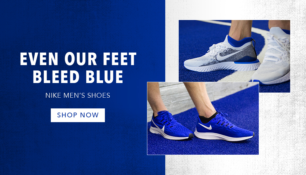 Even our feet bleed blue: Nike Blue shoes