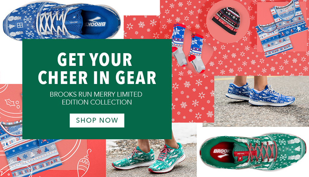Get your cheer in Gear with Brooks Run Merry Collection is now in-store and online at Allsports.