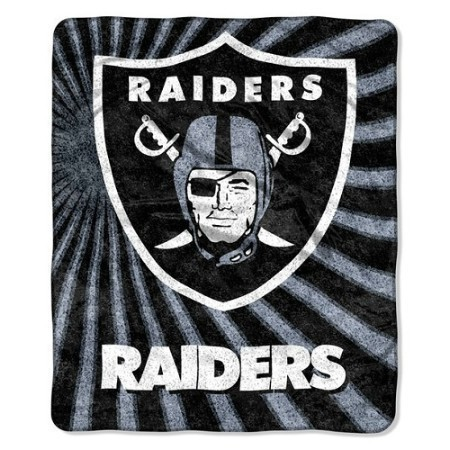 NFL RAIDERS SHERPA THROW 50X60 Thumbnail