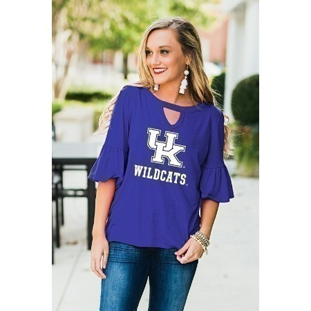 L KENTUCKY RUFFLE & READY TOP Thumbnail