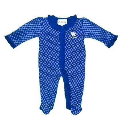 TODDLER KENTUCKY LATTICE FOOTED ONESIE Thumbnail