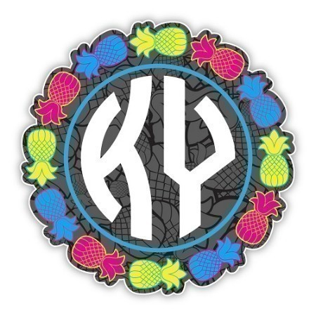 KENTUCKY PINEAPPLE CIRCLE DECAL 4.5 INCH Thumbnail