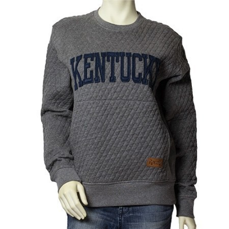LADIES KENTUCKY MOOSE QUILTED CREW Thumbnail