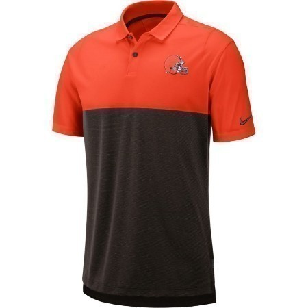 MENS BROWNS NIKE BREATHE POLO 2  Thumbnail