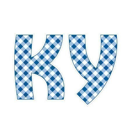 KENTUCKY KY GINGHAM DECAL 3.5