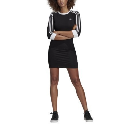 LADIES ADIDAS 3 STRIPE SHORT DRESS Thumbnail