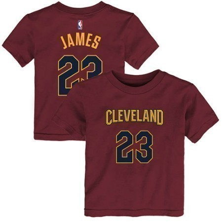 YOUTH CAVS JAMES NAME & NUMBER TEE Thumbnail