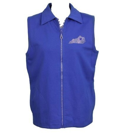 LADIES  KENTUCKY CRYSTAL ZIPPER VEST Thumbnail